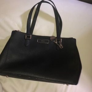 DKNY Saffiano Leather Tote - Black